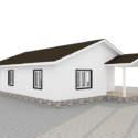 Внешний вид дома из СИП панелей